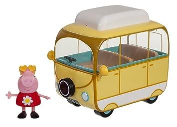 Peppa Pig 95707 peppas 15 cm de Largo Camping Carro con 1 Parte Figura: Amazon.es: Juguetes y juegos