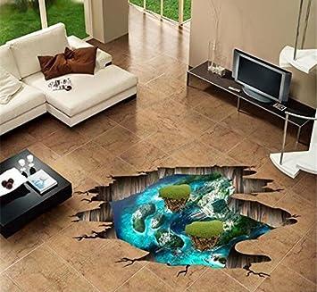 Weaeo 3D Symphony Island Wallpaper Home Schlafzimmer Wohnzimmer Badezimmer  Bodenbeläge Wand Dekoration Pvc Wand Aufkleber