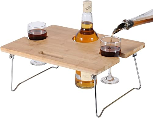INNOSTAGE Portable and Foldable Wine and Snack Table