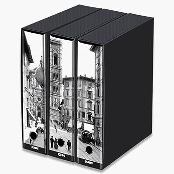 kaos-Juego de 3 archivadores de palanca A4 decorados con imagenes de Florencia: Amazon.es: Oficina y papelería