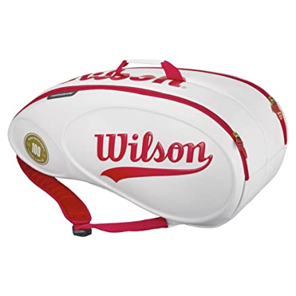 Amazon.com: Wilson 100 Year Tour 9 pack Bolsa de raqueta de ...