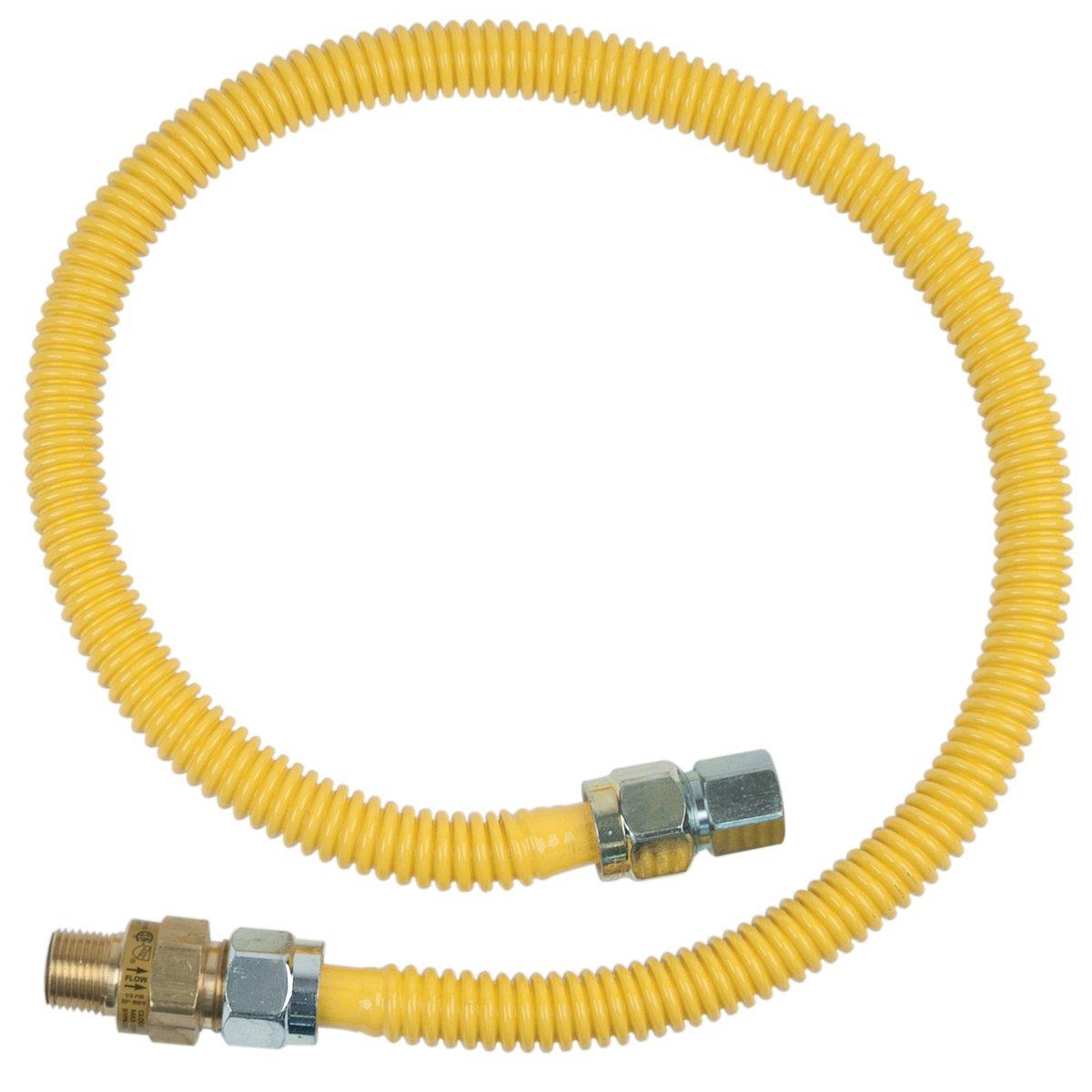 BrassCraft CSSC45R-36 P Safety PLUS Gas Appliance 5/8'' OD Connector with 1/2'' MIP EFV x 1/2'' FIP x 36''