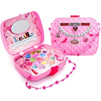 Toyfun Kids Makeup Set, Glamour Girl Pretend Play Makeup, Safety Tested Washable Realistic Cosmetic with A Cosmetic Bag, Great for Little Girls Kids