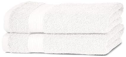 AmazonBasics - Juego de toallas (colores resistentes, 2 toallas de manos), color
