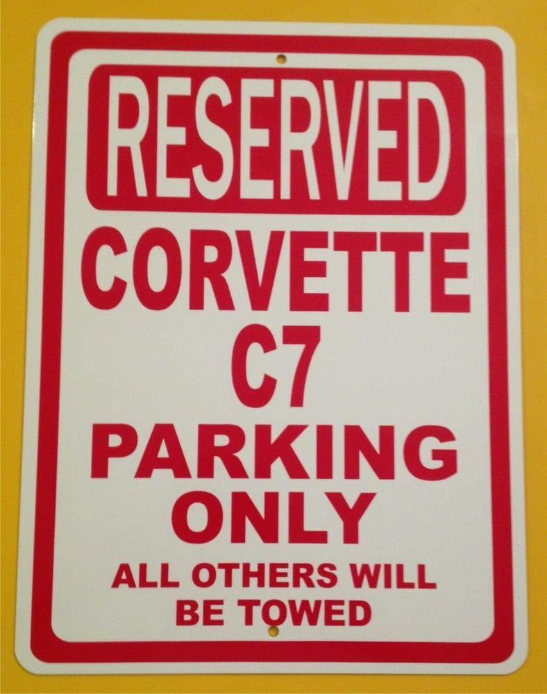 PotteLove Cartel de estacionamiento Reservado para Chevrolet ...