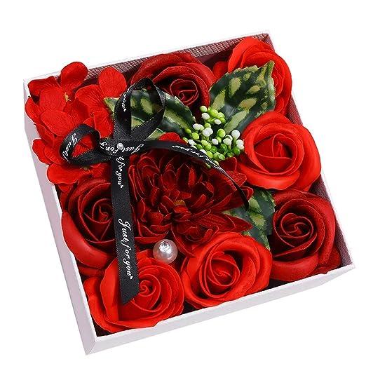 ANBET Jabón con Ramo de Flores Color de Rosa y Caja de ...
