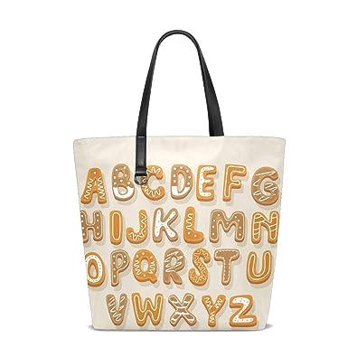 44426413d Women Shoulder Bag Bread Alphabet 26 Letter Words Purse Shopper Tote ...