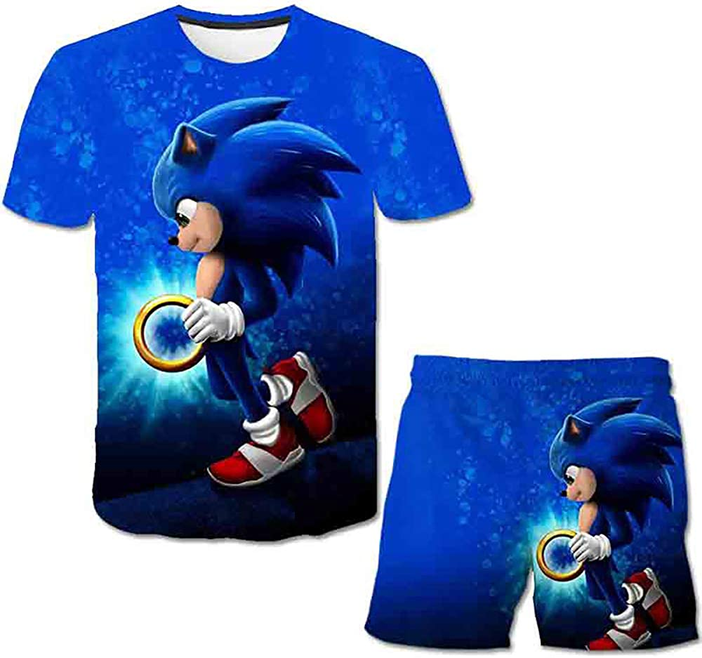 LING Sonic The Hedgehog Boys and Girls, Short Sleeves and...