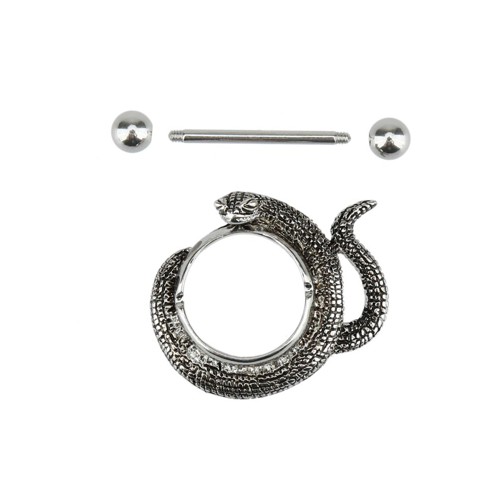 AbleGrow (TM)Body Piercing Nipple Ring Snake Style Fashion Piercing Body Jewelry