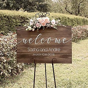 Amazon.com: Rústico de madera rústico madera de boda señal ...