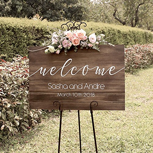 Wooden Wedding Signs.Rustic Wedding Welcome Sign Wood Rustic Wood Wedding Sign