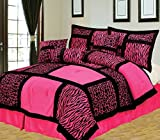 zebra comforter full size - Empire Home Safari 7-Piece Comforter Set Till End of The Month (Full Size, Pink)