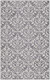 """Brumlow Mills EW10097-30×46 Antique Damask in Lilac Gray Area Rug, 2'6″ x 3'10"""""""