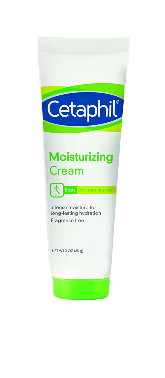 Cetaphil Moisturizing Cream, Fragrance Free, 3 Ounce (Pack of 3) (Packaging May Vary)