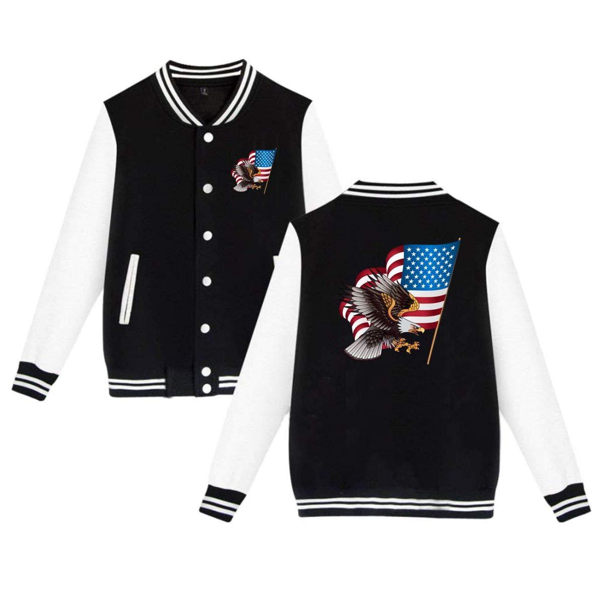 33bc306c American Eagle Men's Women Adult Baseball Jacket Uniform Coat Sport ...