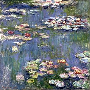 Posterlounge Leinwandbild 70 x 70 cm: Seerosen von Claude Monet ...