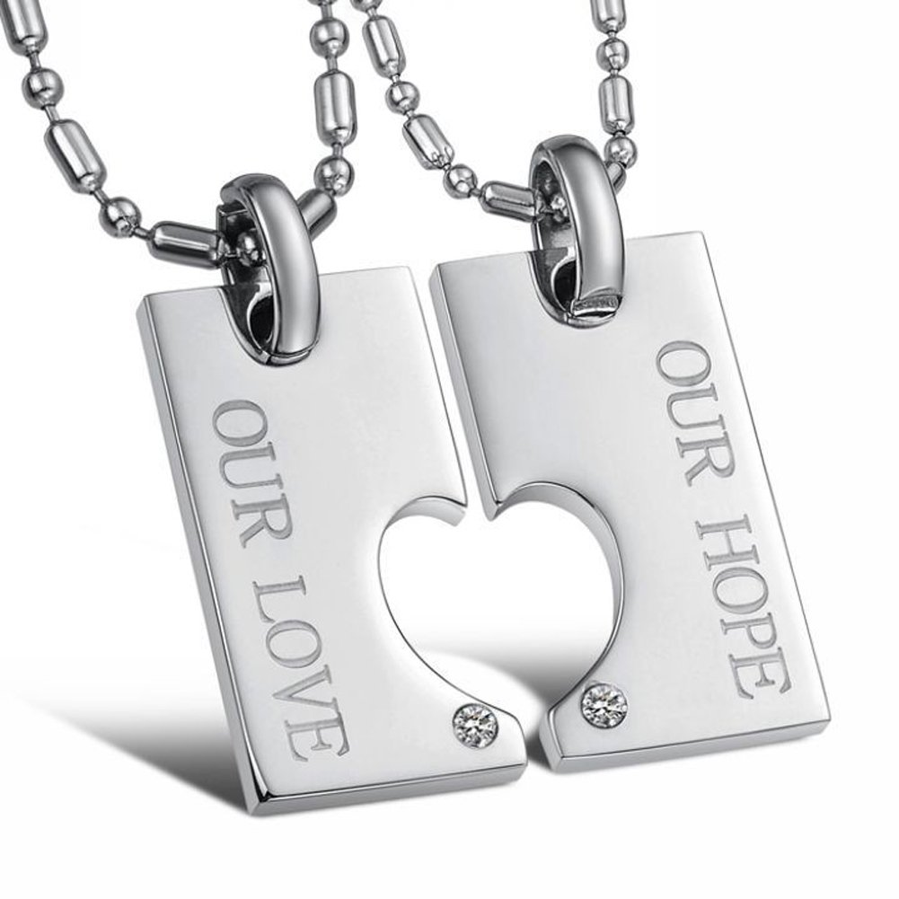 SaySure - Pendants Chain donna Uomo Stainless Steel Necklaces