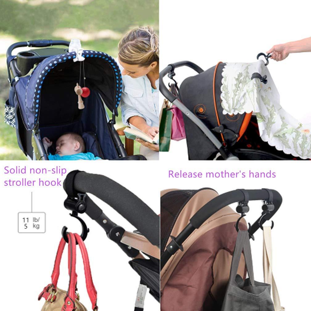 Ganchos Carrito Bebe /& Clip de Cochecito Universal Baby Stroller Hook Clip para Cochecito 2 Gancho Carrito Bebe +6 Clip de Cochecito