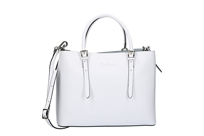 Pierre Cardin Borsa donna shopper a mano bianco in pelle