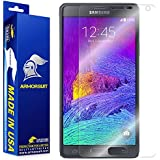 ArmorSuit MilitaryShield - Samsung Galaxy Note 4 Screen Protector Anti-Bubble Ultra HD - Extreme Clarity & Touch Responsive Shield with Lifetime Free Replacements