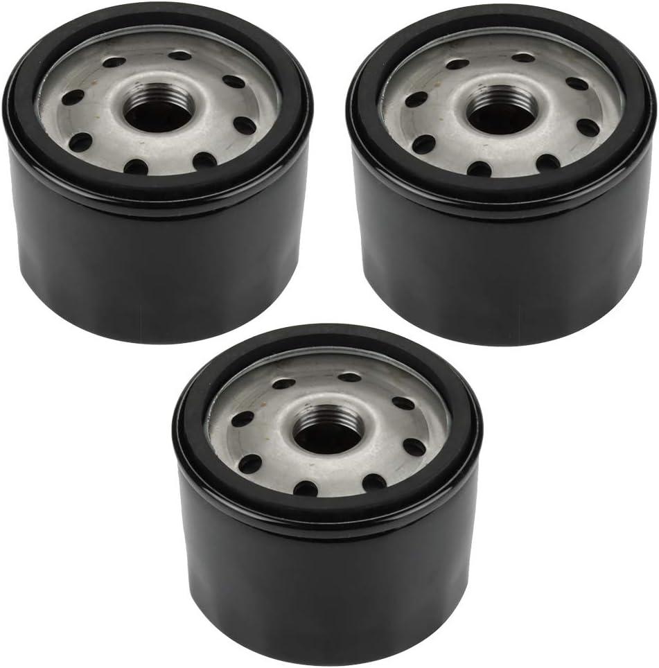 Hilom Pack of 3 49065-7007 Oil Filter for Kawasaki FX600V FR691V FR730V FR651V FR541V FR600V FX600V FS730 FX600v FS451V FS481V FS691V FS651V 4 Cycle Engine