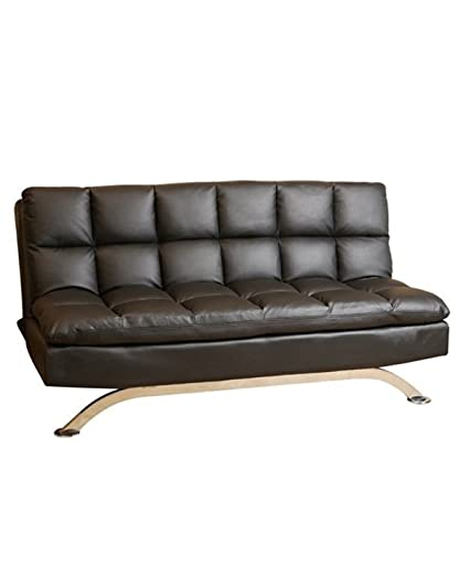 amazon com abbyson dylan leather lounger sofa euro black home rh amazon com