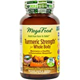 MegaFood - Turmeric Strength for Whole Body, Supports Healthy Aging, 90 Tablets (FFP)