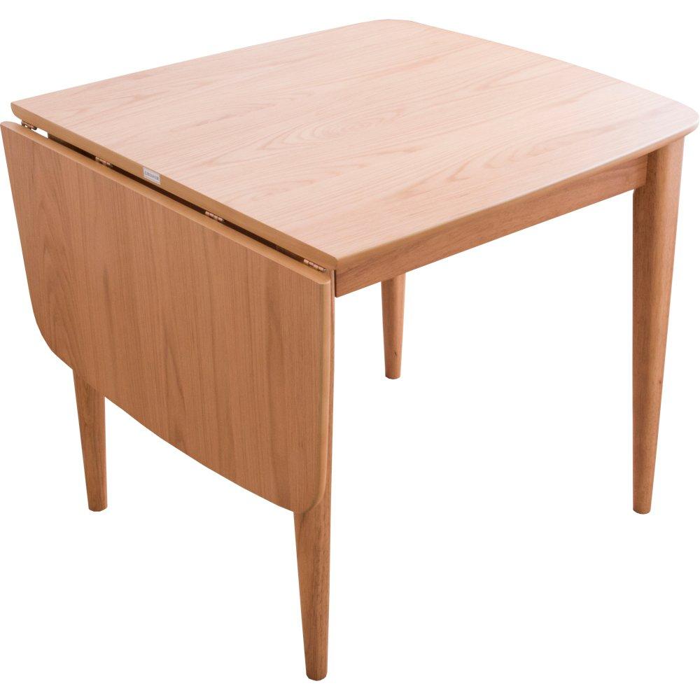 アイリスプラザ ダイニングテーブル バタフライ伸長式 ナチュラル幅80-120cm コリド CRD80TBLNA 7126737 B07BD9V39Fナチュラル