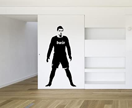 Cristiano Ronaldo Real Madrid Football Soccer Wall Art Decal Decor Sticker  Vinyl
