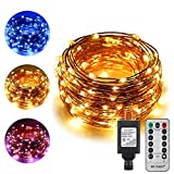 Best Outside Plug In Lights - ErChen Dual-Color LED String Lights, 66 FT 200 Review