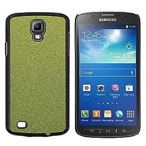 KLONGSHOP // Cubierta de piel con cierre a presión Shell trasero duro de goma Protección Caso - Textura floral verde - Samsung Galaxy S4 Active i9295 //