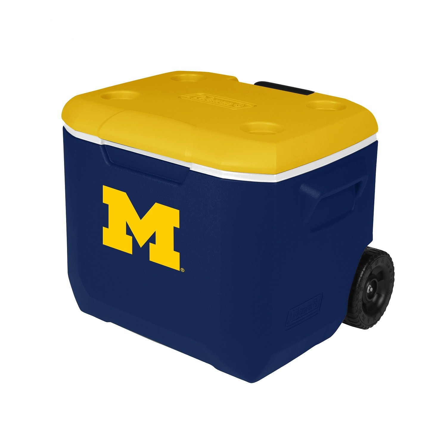 Coleman Company Michigan Wolverines Performance Cooler, 60 Quart, Blue/Yellow