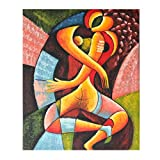 Oil Painting on Canvas - 100% Hand Painted Modern Artwork Abstract People Oil paintings, Framed for Living Room Bedroom Entrance Mural Wall Decoration (20'' x 24'', Framed) (People-01)