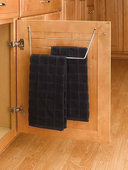 Amazoncom Rev A Shelf Door Storage Towel Holder Chrome Wire