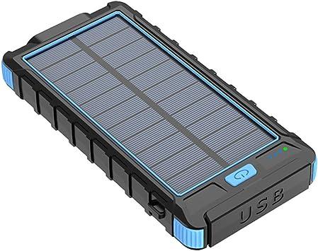 B Blesiya 10000mAh Solar Power Bank 2 Puerto USB Cargador De ...