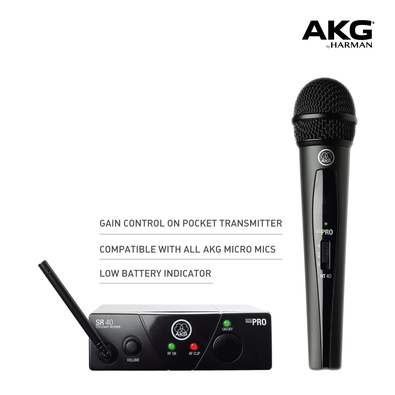 Micro không dây AKG WMS40 MINI   Hayaudio.com