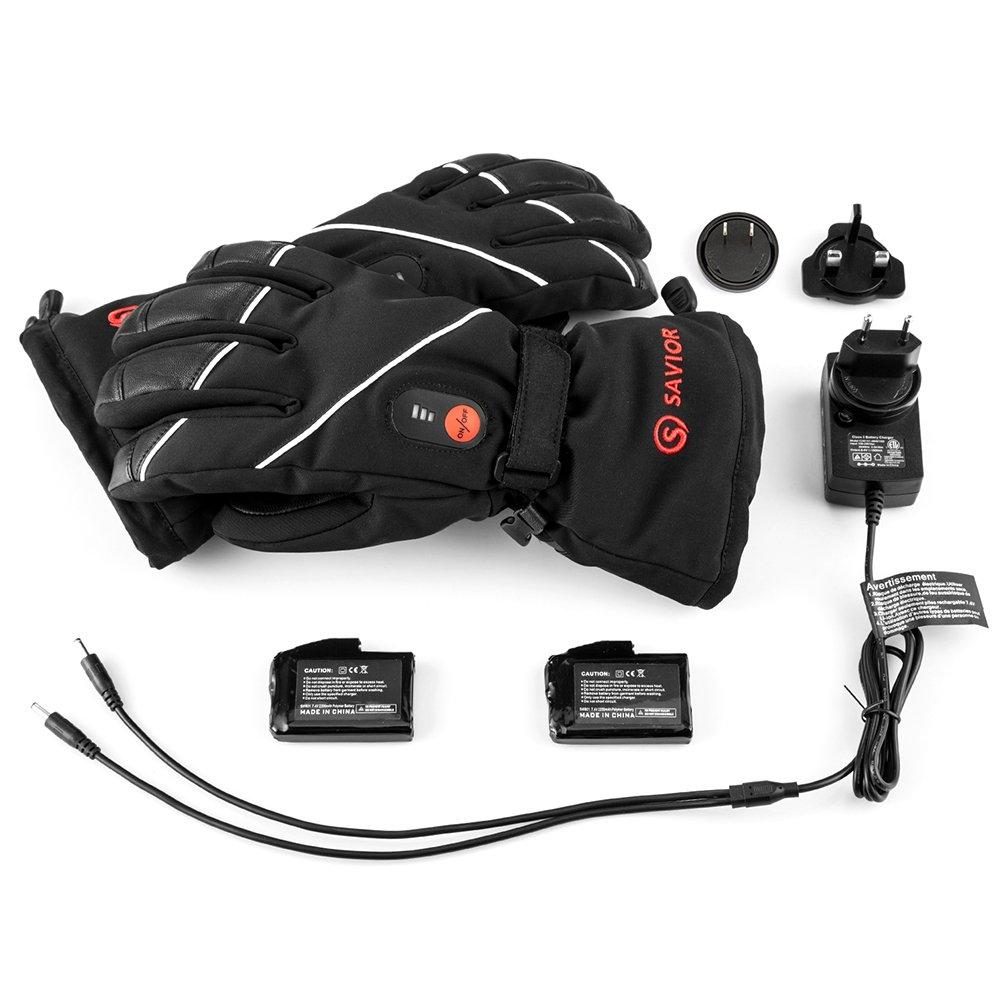 Funzionano fino a 6 ore guanti riscacaldati per ciclismo Motociclismo ed Escursionismo Alpinismo batteria ricaricabile agli Ioni di Litio SAVIOR Guanti riscaldati per uomo e donna
