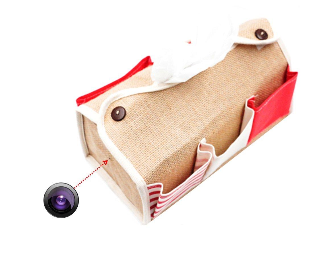 Newstar 小型カメラ スパイカメラ ティッシュ ケース ボックス カバー 置き型 高画質 長時間 防犯 監視 レット B0721KC92Q