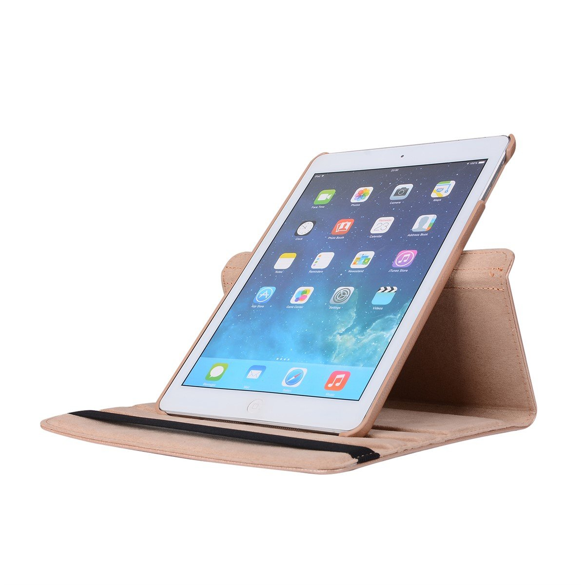 inShang Case for iPad 2 iPad 3 iPad 4 Premium PU Leather Multi-Function Stand Cover 360 degree Rotation With Auto Sleep Wake Function+1pc High end class business stylus Pen