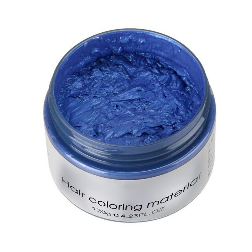 Brightup 7 Farben Unisex Haar Wachs Farbstoff einzigartige Form Paste Haar Wachs, One-Time Forming Paste Haarfarbe Wachs