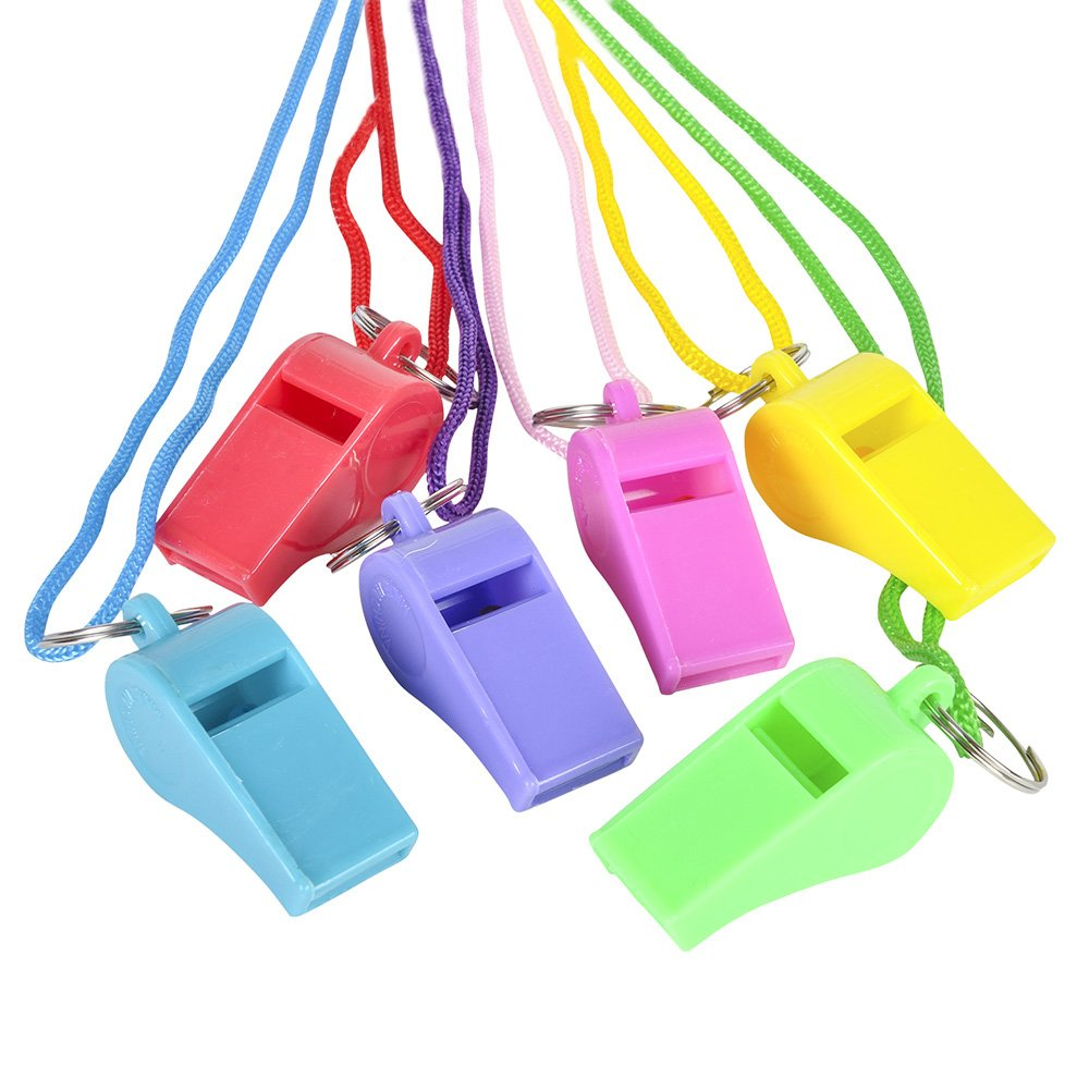 2' Neon Whistle Necklace (pack of 12)