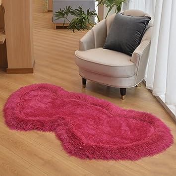 Teppich 80 x 160 elastische seide rote schlafzimmer bett ...
