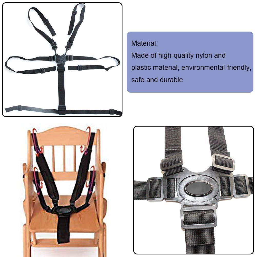 Baby Seat Belt Adjustable Safety Strap Universal 5 Point Baby Harness with Shoulder Pads for Stroller High Chair Pram Buggy