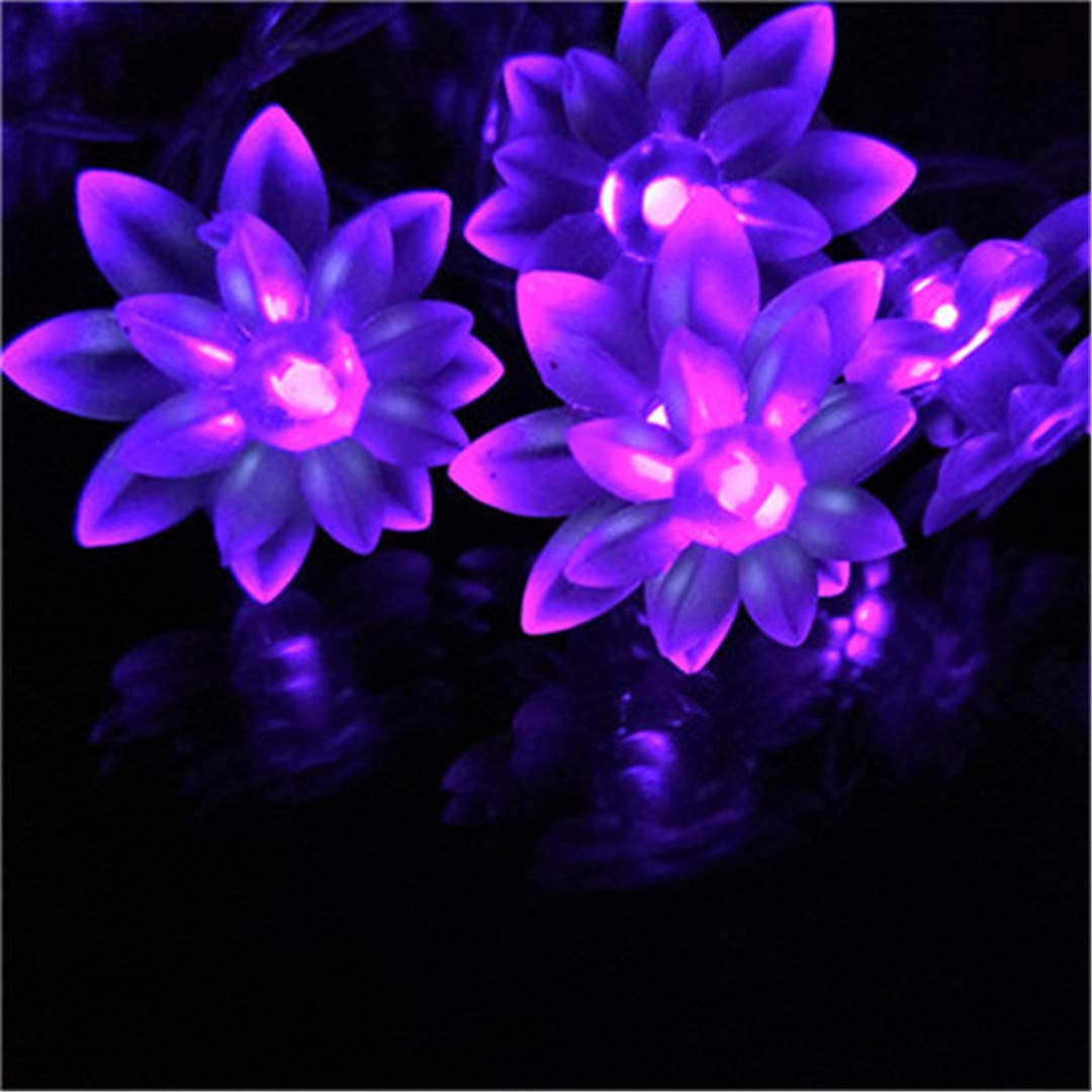 2/3/4/5M Novelty Lotus Holiday Decoration String Lights Festival Birthday Hotels Bars Decor. Lightings Lotus Led-Lamper Purple 2m 20lotus