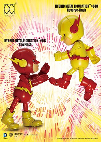DC Comics Hybrid Metal Action Figure 2-pack Reverse Flash & The Flash 14 cm Herocross Figures