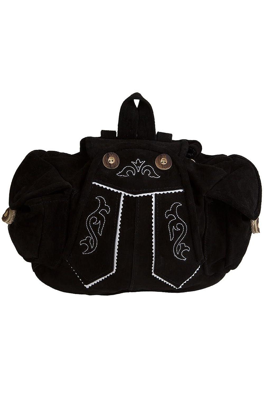 Damen Stützle Rucksack Lederhose schwarz, schwarz, Unisize