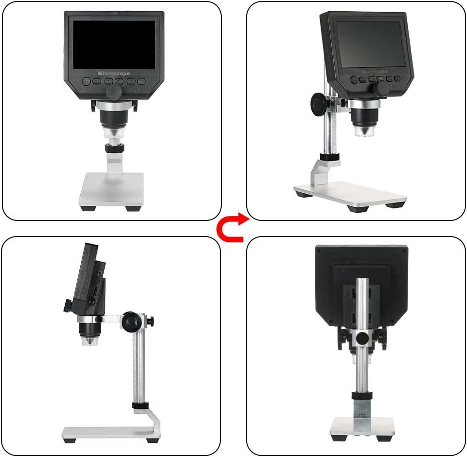 supporto per microscopio in lega di alluminio Supporto per microscopio digitale Supporto per supporto per microscopio Supporto per microscopio USB Supporto per microscopio