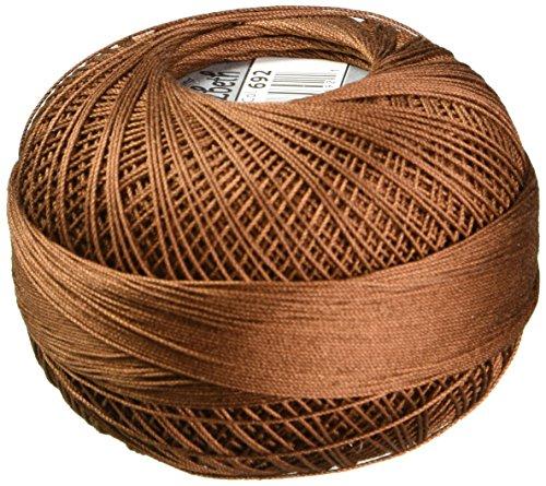 Handy Hands Lizbeth Premium Cotton Thread, Size 40, Mocha Brown Dark ()