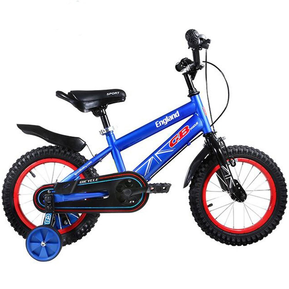 XQ 子供の自転車の男の子と女の子3-6歳の赤ちゃんのキャリッジ12/14/16インチの自転車マウンテンバイク 青 子ども用自転車 ( サイズ さいず : 16-inch ) B07CKVFNJ216-inch
