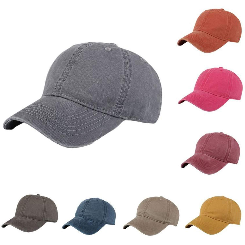 Fashion Women Men Adjustable Solid Cap Colorful Flower Print Baseball Hat Shade Honkbal Cap